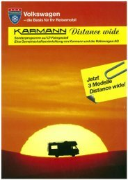 Prospekt Distance wide - bei Karmann Mobil
