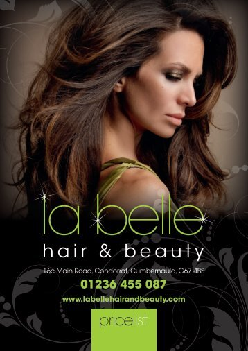 01236 455 087 - La Belle Hair and Beauty