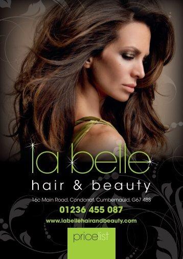 01236 455 087 - La Belle Hair and Beauty