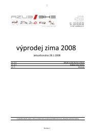 výprodej zima 2008 - Azub Bike
