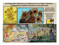 The Degradation Mechanisms of Matisse and van Gogh's Pigments ...