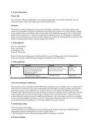 Project information - Rijksdienst voor het Cultureel Erfgoed