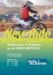 Sonderschau «E-Scooters» an der SWISS-MOTO 2011 - NewRide