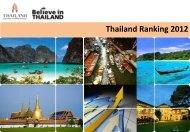 Thailand Ranking 2012 - TCEB