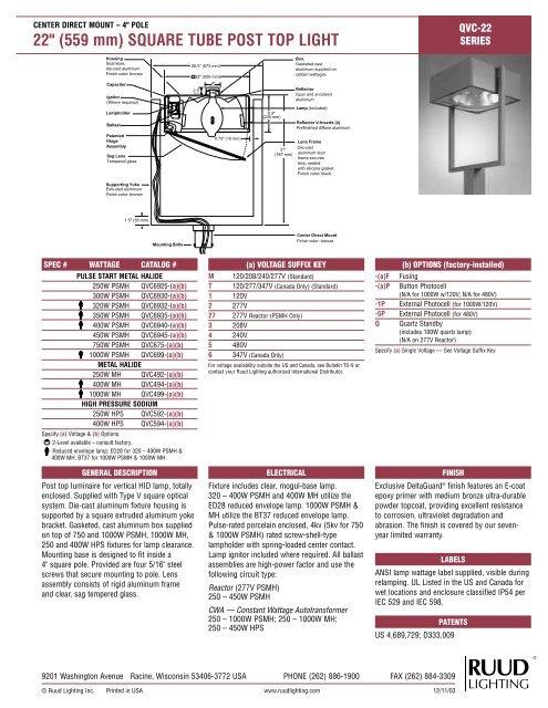 Qvc 22 Ruud Lighting Direct