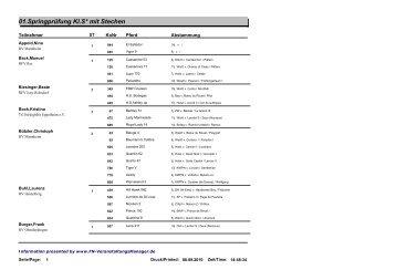 01.Springprüfung Kl.S* mit Stechen - FN-Veranstaltungsmanager