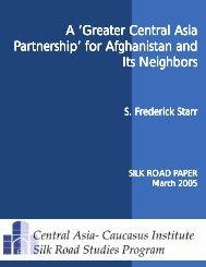 Greater Central Asia Partnership - Central Asia-Caucasus Institute