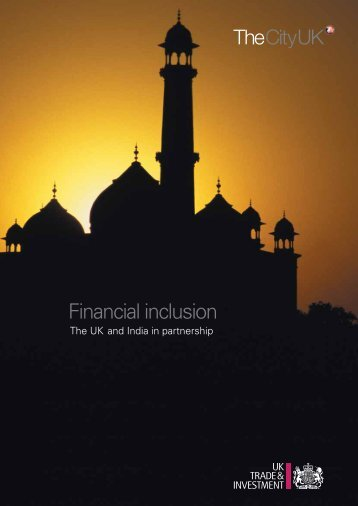 Financial inclusion: The UK and India in partnership