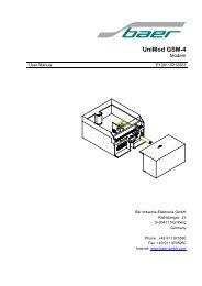 UniMod GSM-4 - baer-gmbh.com