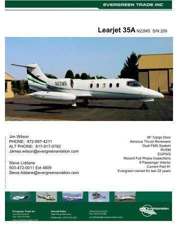 Learjet 35A - Evergreen International Aviation