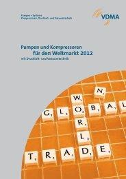 Pumpen und Kompressoren für den Weltmarkt 2012 - VDMA-Shop
