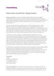 Pressemitteilung - Internet24.de