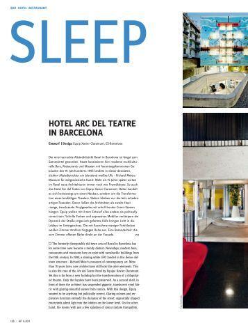 HOTEL ARC DEL TEATRE IN BARCELONA