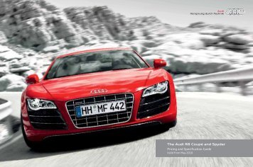 Audi R8 Pricing and Specification Guide 201005 UK