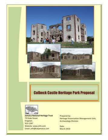 Colbeck Castle Heritage Park Proposal - Jamaica National Heritage ...