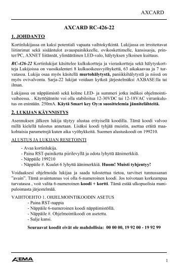 AXCARD AXCARD RC-426-22 - SmartKey