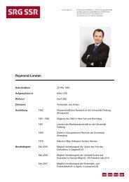 CV Raymond Loretan - SRG SSR