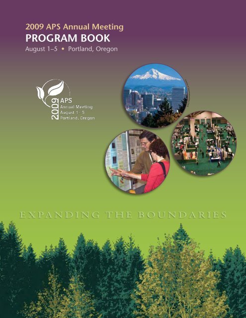 Annual Meeting Program Book - American Phytopathological Society