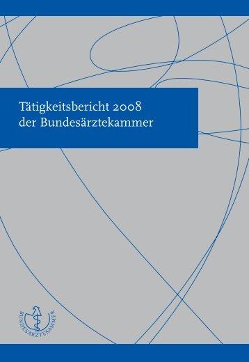 Kapitel (Tätigkeitsbericht 2008 der Bundesärztekammer)