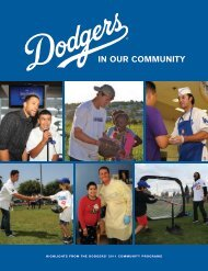 IN OUR COMMUNITY - Los Angeles Dodgers