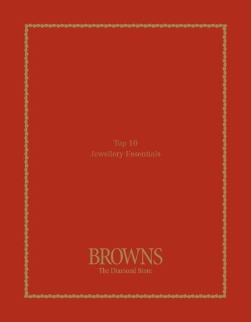 Top 10 Jewellery Essentials - Browns Jewellers