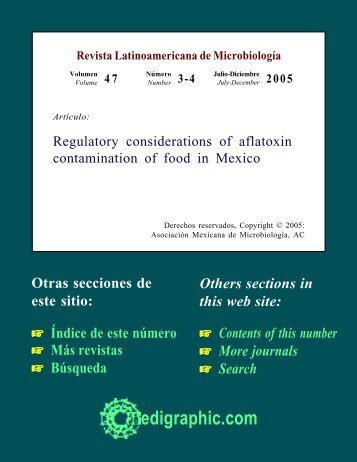 Regulatory considerations of aflatoxin ... - edigraphic.com