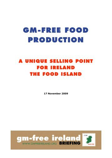 GM-free food production: a unique selling point - GM Free Ireland