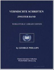 VERMISCHTE SCHRIFTEN, ZWEITER BAND - World eBook Library