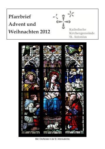 Pfarrbrief Advent und Weihnachten 2012 - St. Antonius