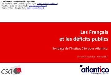 Les Français et les déficits publics