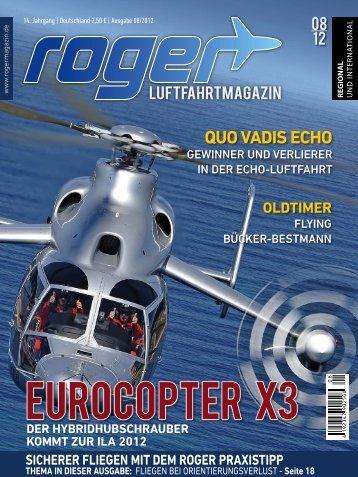 Ausgabe 08|2012 - Roger - Luftfahrtnachrichten für Berlin und ...