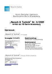 tb/archiv/Mensch & Technik BB Nr II - (VDI) Berlin-Brandenburg