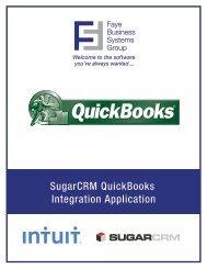 SugarCRM QuickBook Integration Spec Sheet - PRWeb