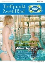 19. September – Eintritt frei und Mitmachprogramm - Zwettl