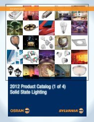 2012 Product Catalog (1 of 4) Solid State Lighting - Techni-Lux