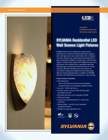 SYLVANIA Residential LED Wall Sconce Light Fixtures