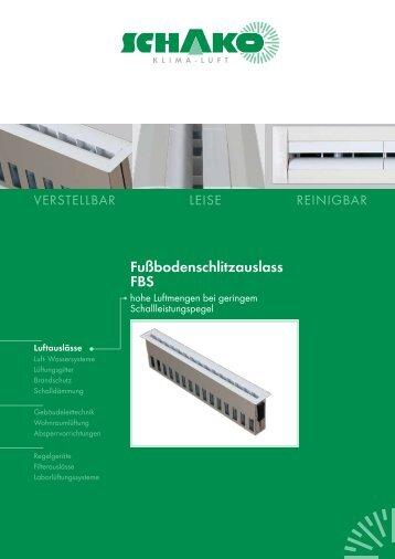 Fußbodenschlitzauslass FBS - Schako