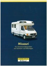 Prospekt Missouri - bei Karmann Mobil