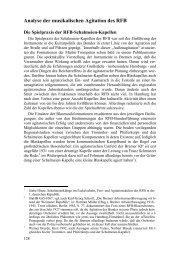 Analyse der musikalischen Agitation des RFB - Tonsplitter