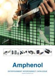 Complete Audio catalogue - Amphenol Audio connectors