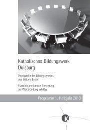 Katholisches Bildungswerk Duisburg - Katholische Erwachsenen ...