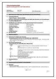 Sicherheitsdatenblatt - Bosshard Farben