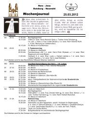 Wochenjournal_12 25.3 bis 01.04.2012 - Herz-Jesu