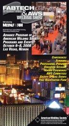 fabtech/aws welding show 2008 advance program - Files.aws.org ...