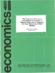 The Economi Returns t Institutional Innovations in ... - CIMMYT