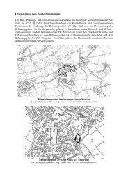 Offenlegung von Bauleitplanungen - Gemeinde Kürten