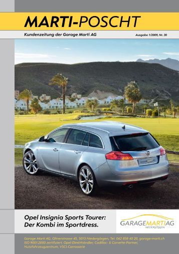 Opel Insignia Sports Tourer - Garage Marti AG