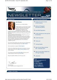 Page 1 of 10 QCM.CH Newsletter - Issue 09 / September 2011 ...