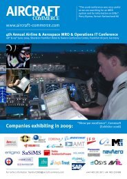 Companies exhibiting in 2009: - Aircraft Commerce