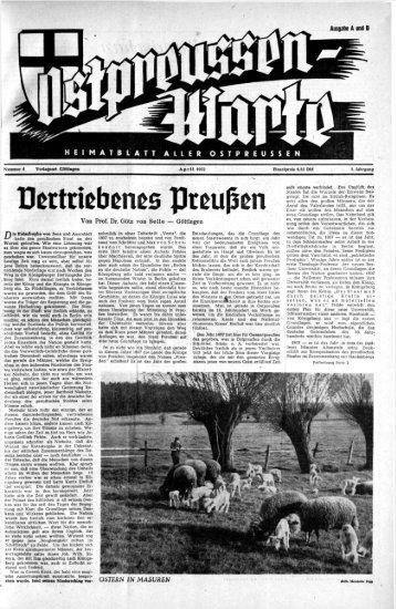 Folge 04 vom April 1952 - Archiv Preussische Allgemeine Zeitung
